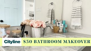 A $50 guide to organize your bathroom with dollar store items