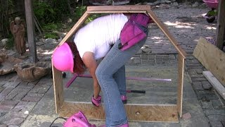 Yard Fountain Construction 1-  How To Install Concrete Forms