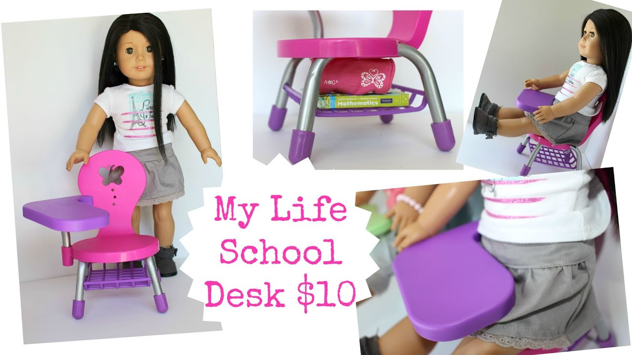 American Girl Doll School Desk Playset Review Youtube