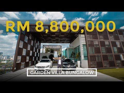 RM8.8mil Bungalow Villa in Malaysia | Garden Villa Bungalow - KL For Sale | Malaysia Properties Tour