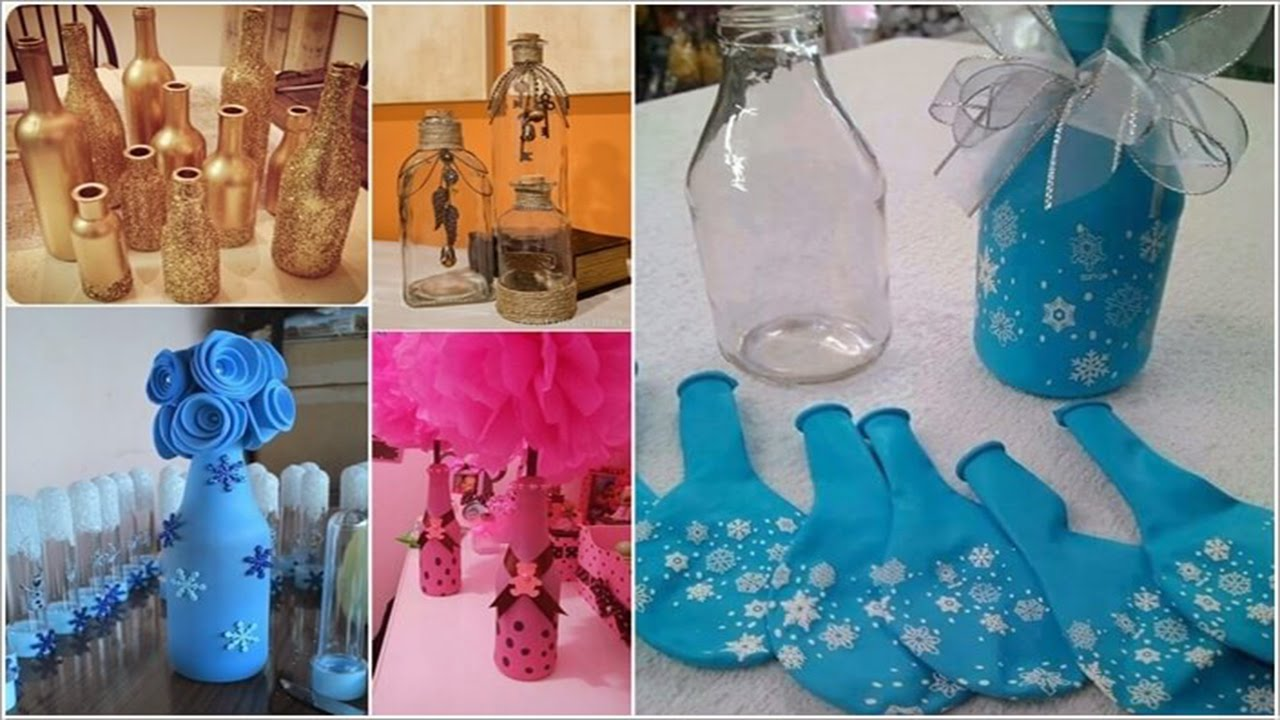 12 things you can make from glass bottles youtube for What to do with empty plastic bottles