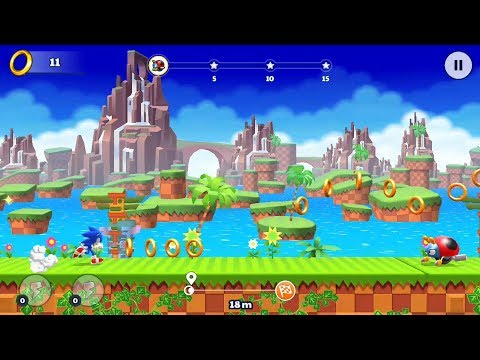 Sonic Runners Adventure (by Gameloft) - runner for android and iOS - gameplay.