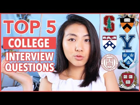 💬Top 5 Questions Every COLLEGE Interviewer Asks + How To Answer  | Katie Tracy