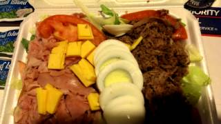 Chef Salad W Ham And Roast Beef , Eggs And Cheese