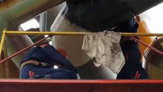 Демонстрационные работы по ремонту трубопровода композитными материалами