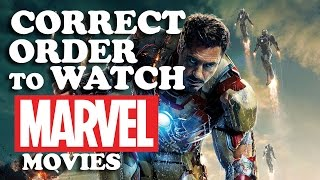 THE CORRECT ORDER TO WATCH MARVEL MOVIES! WOW