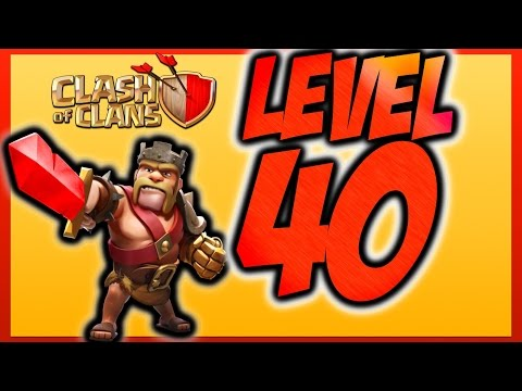 Clash of Clans Gemming / Buying Barbarian King Level 40!