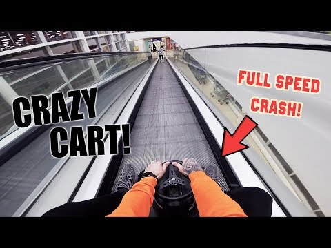 *FULL SPEED* CRAZY CART INSIDE A SUPERMARKET!