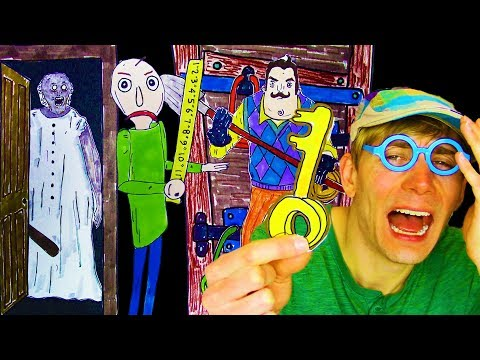 ESCAPE!!!😈 HELLO NEIGHBOR / BALDI'S BASICS / GRANNY'S HOUSE Coloring Page Game in Real Life