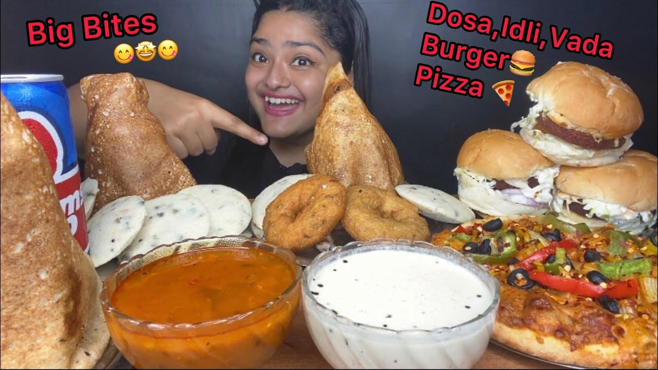 Download CRISPY DOSA, CHICKEN BURGER, VEG BURGER, PASTA PIZZA, VEGETABLE IDLI, MEDU WADA | FOOD EATING VIDEOS