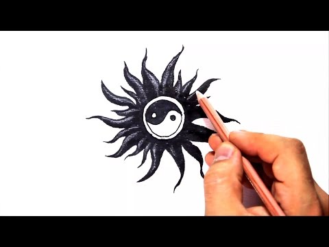 How to Draw a Yin Yang - Tribal Tattoo Design Style Amazing