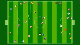 World Cup Qatar 2022 Countryball Match 4 Marble Race Brazil France Spain Portugal UK