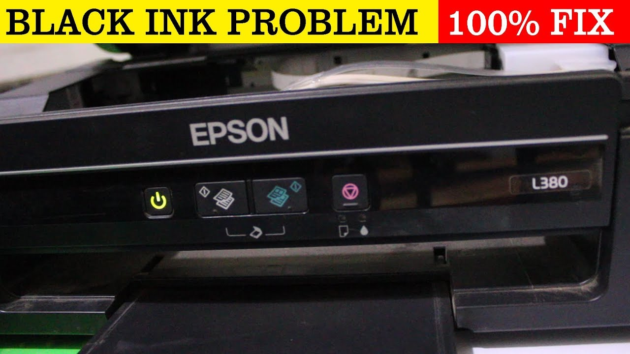 Epson Printer Black Ink Problem Fix 100%
