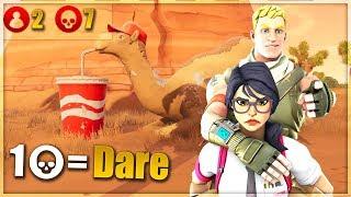 1 KILL = 1 DARE w/ GIRLFRIEND - Fortnite Challenge (CRAZY REACTION) Part 3