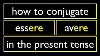 Italian Present Tense 4 Irregular Verbs  -ERE Essere Avere