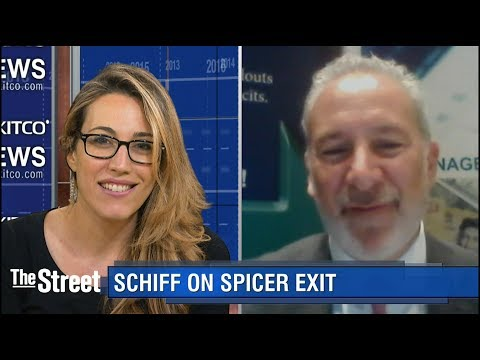 Peter Schiff Talks the Spicer Exit and Gold's Momentum