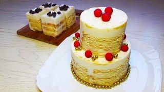 Творожный торт без выпечки / Вкусный десерт