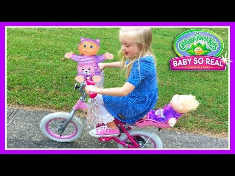 Cabbage Patch Baby So Real Doll & Disney Princess Bike On The Pirate Ship Playground Park For Kids