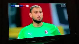 Milan-Roma 2-1, Gol Cutrone, commento Pellegatti-Suma