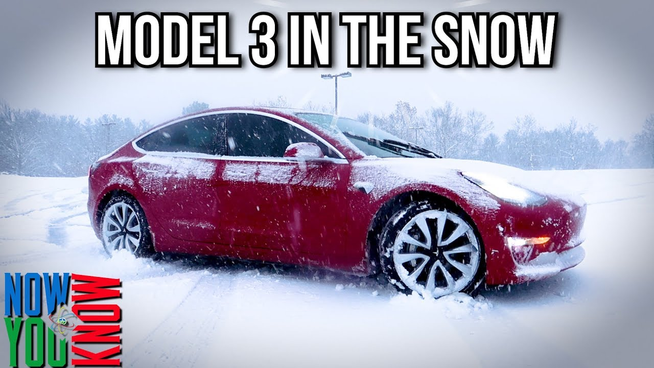 How The Tesla Model 3 Handles In Snow All Season Tires