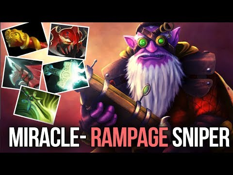 9k MMR Miracle- Sniper Madness Carry Style - RAMPAGE Dota 2