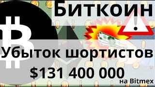 Биткоин SHORTS убыток $131 400 000 на Bitmex и Ethereum  Хардфорк Istanbul  29 октября?