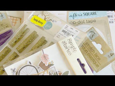 Craft Haul from Tuesday Morning, Hobby Lobby, Scrapbookcom, Dollar Tree