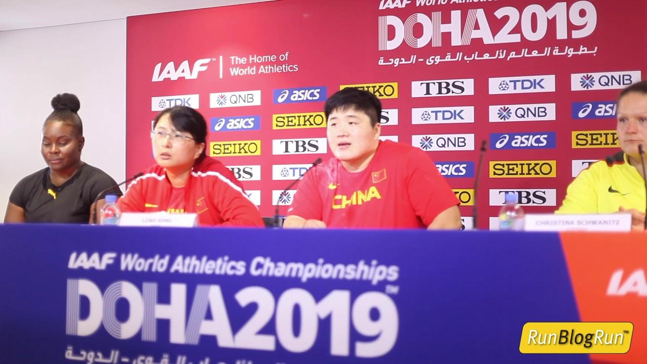 Doha WC 2019 - Women's Shot Put Final Press Conference