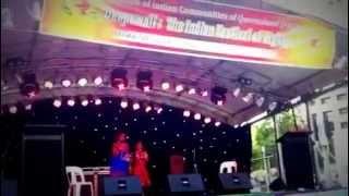 Chanda Chamke Song by Sreekruthi Bachu and Sreevarnitha Bachu in FICQ Diwali 2012