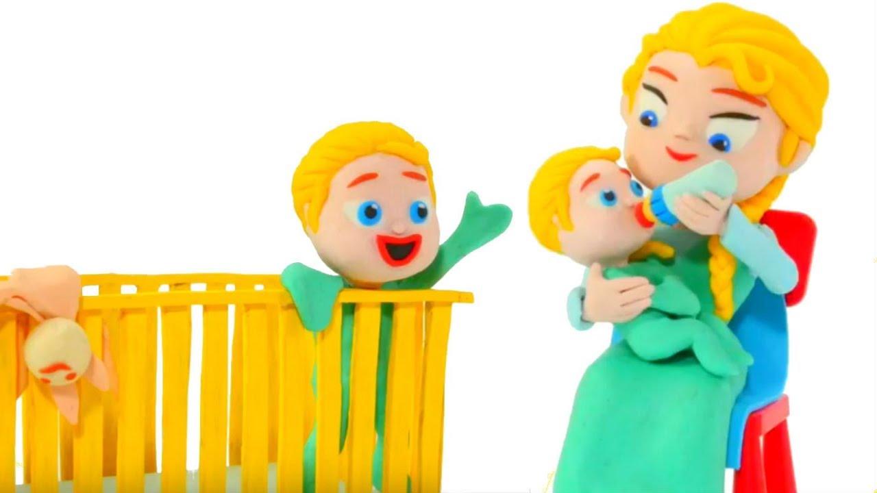 FROZEN ELSA BABY SITTER ❤ Spiderman, Hulk & Frozen Elsa Play Doh Cartoons For Kids
