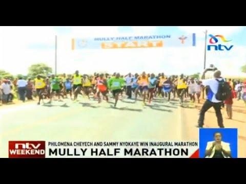 Mully Half Marathon: Philomena Cheyech and Sammy Nyokaye win inaugural marathon