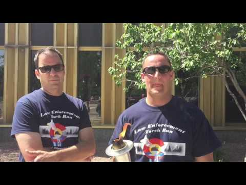 Law Enforcement Torch Run in Colorado Springs for Special Olympics