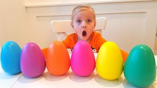 Alisa hunts colored eggs surprises