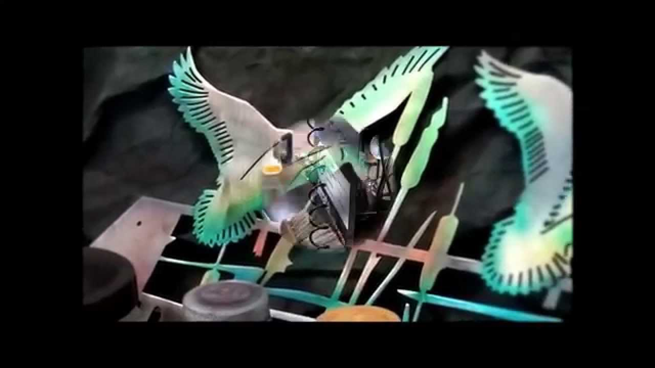 COLORING STEEL WITH DYES PLASMA CUT DUCK SCENE