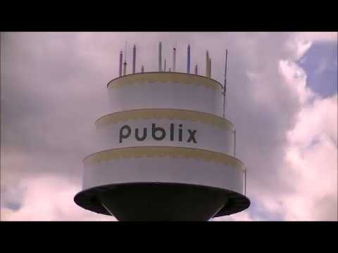 Worlds Largest Birthday Cake Publix Water Tower