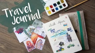 DIY Travel Journal, kreatives Reisetagebuch vorbereiten - Südafrika