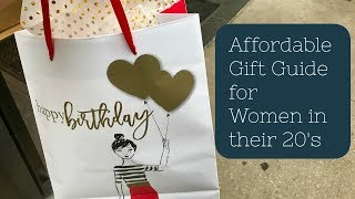 Affordable Gift Guide| Women/girls/ladies In Their 20s