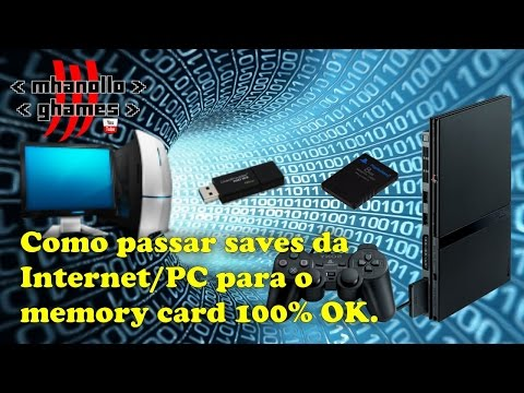 Playstation 2: Como passar SAVES da  Internet PC para o  Memory Card 100% OK.