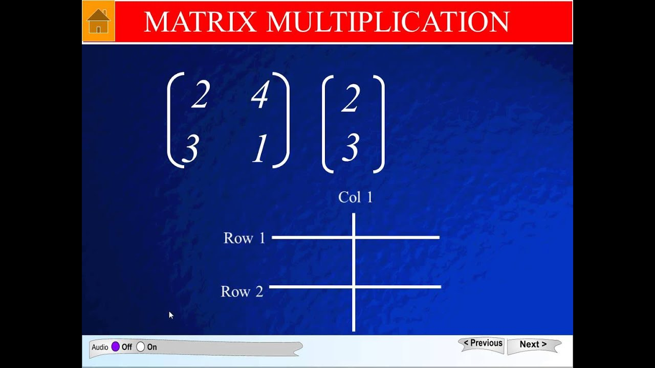 2x2 By 2x1 Matrix Multiplication Youtube