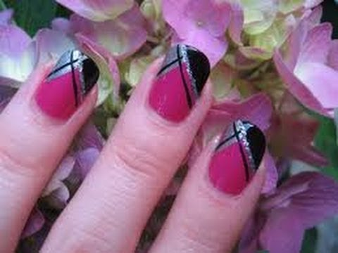 Cute And Easy Nail Art With Scotch Tape Diy At Home For Beginners