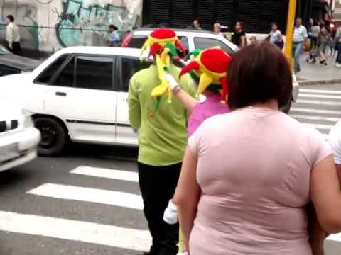 Mimes in Caracas Venezuela