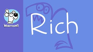The Name Rich Into A Cartoon. Nametoon Rich