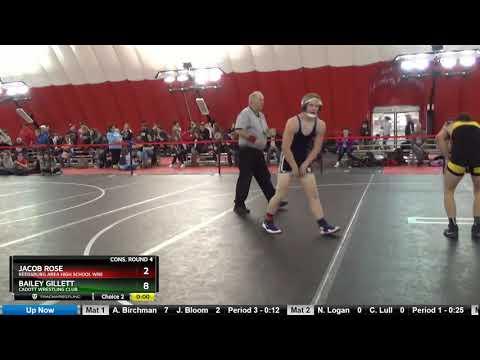 Junior 138 Jacob Rose Reedsburg Area High School Wre Vs Bailey Gillett Cadott Wrestling Club