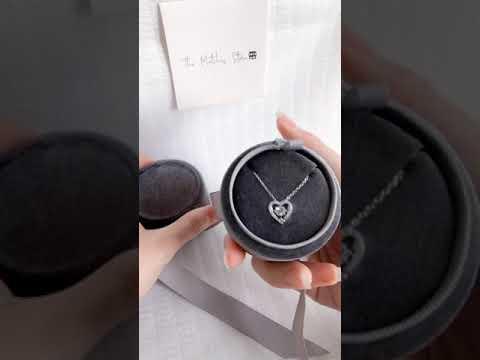 velvet box ( necklace ) ( grey )