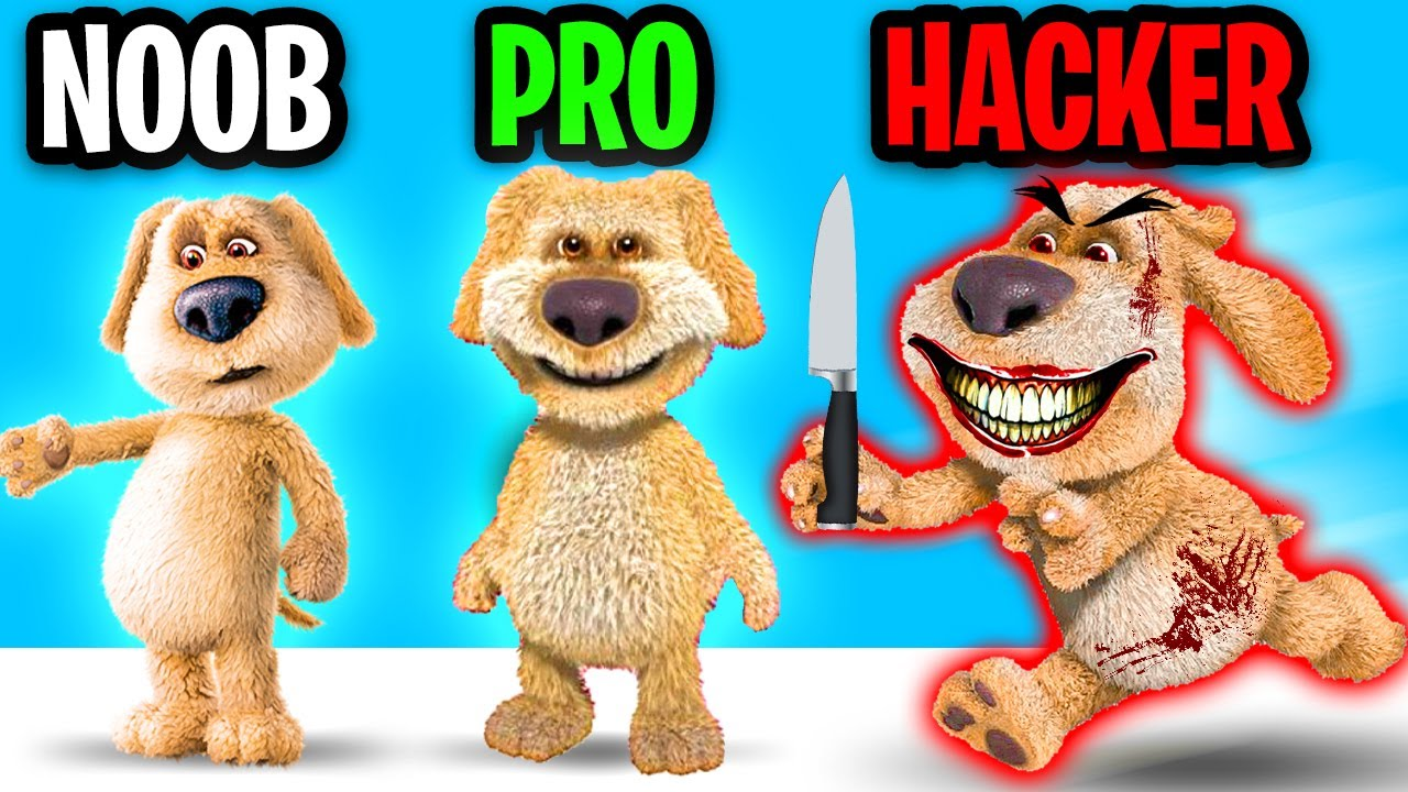 Can We Go NOOB vs PRO vs HACKER In This CREEPY TALKING BEN APP!? (BEN CAN SEE YOU!?)