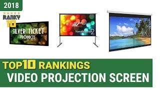 Best Video Projection Screen Top 10 Rankings, Review 2018 & Buying Guide