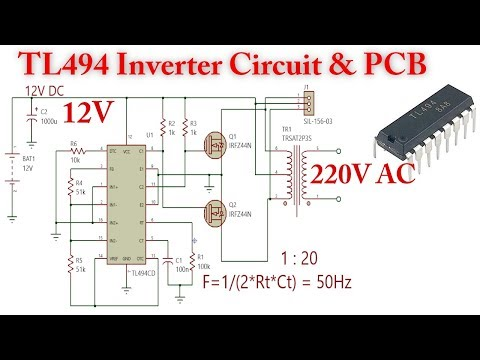 TL494 Inverter Circuit, 12V to 220V AC - YouTube