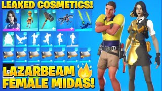 All New Leaked Skins & Emotes! *LAZARBEAM* (Female Midas MariGold)