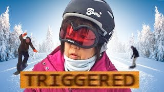 WHEN THERE'S NO SNOW! *Triggered* - /r/snowboardmemes