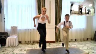 Танец Степ. Танцует Дарья и Стефан. Киев. Заказ артистов на торжество (098) 787 25 98